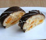 Mandarinková roláda s čokoládou