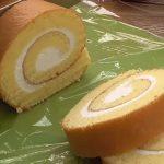 Piškotová pomerančová roláda